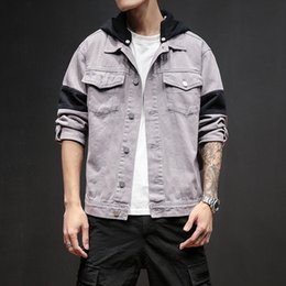 sport men style hoodies 2019 - Mens Jacket Autumn Hoodies Jacket for Male Sport Casual Style Jackets Fashion Streetwear Style Solid Color Plus Size M-5