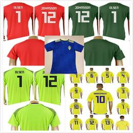 army uniforms 2019 - Custom Sweden 2018 World Cup Soccer Jersey 10 Zlatan Ibrahimovic Yellow 9 Marcus Berg 7 Sebastian Larsson 2 Lustig Footb