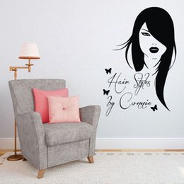 hair wall sticker Canada - Hairstyles Wall Decals Hair Beauty Salon Window Waterproof Vinyl Decorative Stickers On Wall
