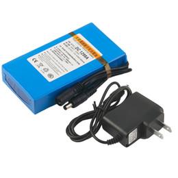 Batería de ión de litio recargable de gran capacidad, de gran capacidad, de gran potencia, DC 12V 9800MAH, con batería de ión de litio de respaldo de enchufe de los EE. UU. Para la cámara en venta