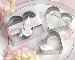 Heart Shaped Cutters NZ - 50pcs Stainless steel heart-shaped cake mold Wedding gifts for guests Favor cake cookie cutter love omelette device