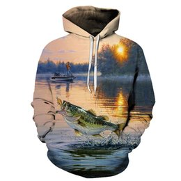 $enCountryForm.capitalKeyWord UK - 3D Tropical Fish Funny Hoodies For Fishinger Fisherman Men Women Long Sleeve Hoody Sweatshirts Hooded Streetwear Hip Hop Jackets L18101005