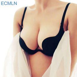 1ed639b0ee 2017 Sexy Deep U Low Cut Ecmln Push Up Women Lingerie U Bra Backless  Underwear Plunge Sexy Bras Intimates Bras Female