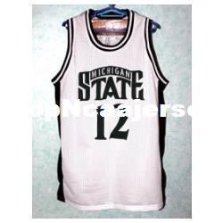 State Player NZ - Cheap #12 MATEEN Cleaves Michigan State Bsketball Jersey Retro Top Embroidery Stitched Customize any size and player name