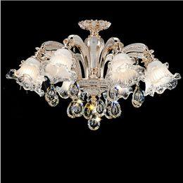 $enCountryForm.capitalKeyWord Canada - Regron Modern Splendid Art Deco Led glass Lights Crystal Chandelier Lustrous Glass Lampshade Chandelier Luminaries Living Room Villa
