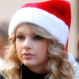 e8ce69af6fc3a Christmas High-Grade Velvet Short Plush Super Soft Christmas Cap Thick  Ultra Soft Plush Santa Claus Holiday Fancy Dress Hat