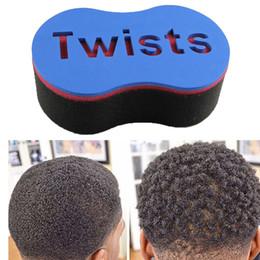 $enCountryForm.capitalKeyWord NZ - Magic Double Head Sponge Men Barber Hair Brush Black Dreads Locking Afro Twist Curl Coil Brush Hair Styling Tools Hair Care 100pcs