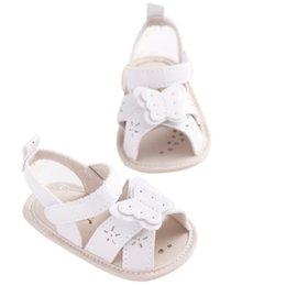 Baby Girl Cute Sandals Australia - Summer Baby Girls Cute Bowknot Princess White Breathable Princess Style Soft Anti-skid Toddler Kids Sandals