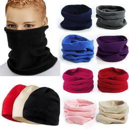 polar fleece snood hat neck warmer 2019 - Women 3 in 1 Men Unisex Polar Fleece Snood Hat Neck Warmer Face Mask Warm Winter Cap Bonnet Scarf Beanies New Balaclava
