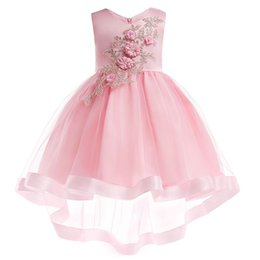 $enCountryForm.capitalKeyWord UK - Princess Lovely Jewel Neck Lace Beading Flower Girl Dresses Pink Tulle Lace Appliques Button Covered Kids Formal Wear Cheap 2018
