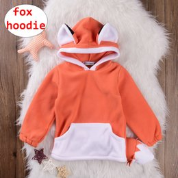 $enCountryForm.capitalKeyWord NZ - Baby Cute Fox Hoodie INS Kids Unisex Autumn Winter Coats with Cap Children Orange Outwear for 0-18M
