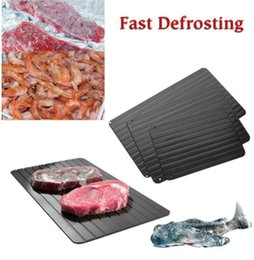 Plateau de dégivrage rapide décongeler viande ou aliments congelés sans électricité Plateau de dégivrage micro-ondes dégeler congelés plaque de métal KKA4346 en Solde