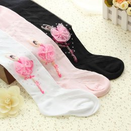 Wholesale dance pantyhose for sale - Group buy Girls pantyhose ballet styles kids girls tights cute cotton dance lace girl velvet magic years