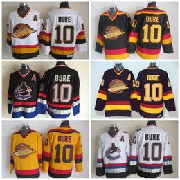 17cc5829c8e mens vancouver canucks hockey vintage 10 pavel bure jersey home black retro  road ccm jerseys stitched
