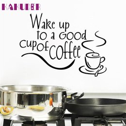 kitchens tiles designs Australia - Zero New Arrival Beautiful Design Coffee Mugs Tea Coffee Art Decal Vinyl Wall Stickers Kitchen Restaurant Pub Decor 170101