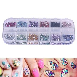 diy nail studs Canada - 3000pcs Multi-Color Nail Art Rhinestones Glitters Decorations 1.5mm Round Nail Studs Tips Decals DIY Decorations With Hard Case