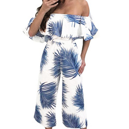 e92677badf6 Off white wOmen jumpsuit online shopping - Women Fashion Print Strapless  Long Trousers Casual Jumpsuit women