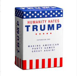 big one toy 2020 - Humanity Hates Trump Humanity Hates Hillary Clinton Card Game Expansion One (80 White Cards, 30 Black Cards) Christmas G