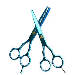 $enCountryForm.capitalKeyWord UK - 2 Pcs 5.5inch Hairdressing Scissors Set Salon Cutting Thinning Hair Shears Barbershop Styling Tools For Women Men Home Use FM88