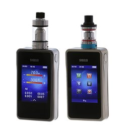 Discount box mod touch - Sigelei T200 TC Box Mod e electronic cigarette mod 2.4 touch screen Design and APP Bluetooth connection 200W superpower
