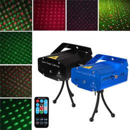 Mini Stage Lighting LED Projector Laser Lights Auto Remote Control Voice-activated Disco Light for home Christmas DJ Xmas Party Club Decorations Lamp on Sale