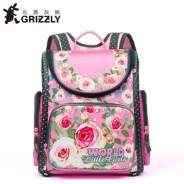 8723ec93cf2d Children School Bags for Girl Cartoon Dogs Cats Flower Princess Printed  Nylon Waterproof Orthopedic Backpack Primary School Bag