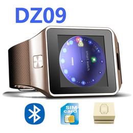 Battery Slot NZ - Smart Watch Clock With Sim Card Slot Push Message Bluetooth Connectivity Android Phone Better Than DZ09 Smartwatch Men Watch