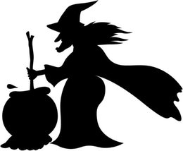 diy nature home decor mural UK - New Horrible Witch Sticker Removable Halloween Festival Decor Black DIY Wall Sticker Poster Wallpaper Party Living Room Home Decoration