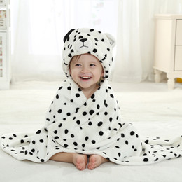 quick drying towels 2020 - 9 Designs Baby Flannel Cartoon Molding Cloak Kids Absorbent Hooded Bathrobe With Cute Animal Hats Children's Single