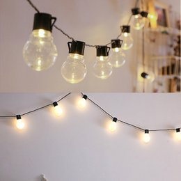 outdoor string lights vintage exterior 5m 20 led bulbs vintage design globes string light christmas wedding outdoor garden lights 110v 220v festoon led shop uk