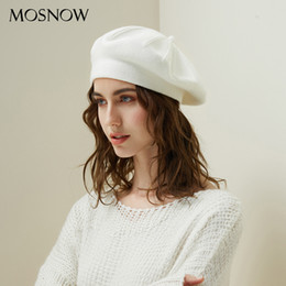 knit beret hats for girls NZ - Drop Shipping Beret Female Wool Knitted Hats 2018 New Brand Stylish Winter Warm Beanie Women Painter Bonnet Hats For Girl Berets