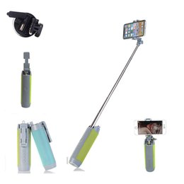 HandHeld bluetootH selfie stick monopod online shopping - 2018 Non slip Super Bluetooth Control Selfie Stick with Tripod Handheld Extendable Monopod Built in Bluetooth Shutter New Offer