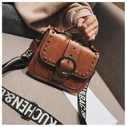 a58734f283d0 China Brand Vintage Bags Women Messenger Rivet Bags PU Leather Handbags  Phone Purse Designer Ladies Cross body Bags Beishangguang 10