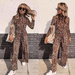 Leotard Jumpsuits Australia - Fashion Women Leopard Print Jumpsuit Bodycon Bandage Turtleneck Romper Long Trousers Sexy Women Leotard Streetwear