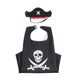 Kids Cape Masks NZ - halloween costume children pirate cape cloak mask kids boy gift Halloween Pirate cosplay party mask skeleton cape cloak decoration