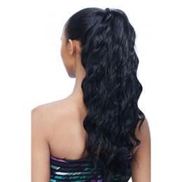 Black Women Ponytail Extensions UK - Cuticle Aligned Human Hair Ponytail  For Black Women 140g Body 3abcae9e2