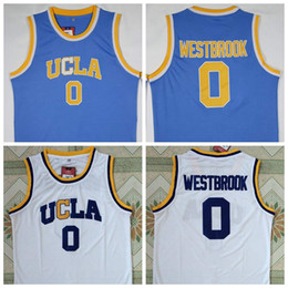 72f1830b2bd30 UCLA Bruins 0 Russell Westbrook Blue White College Basketball Jersey New  Cheap