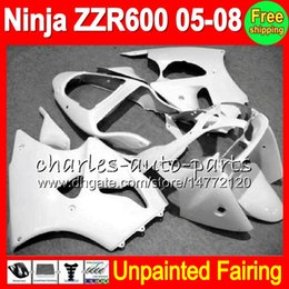 Unpainted Fairings Australia - 8Gifts Unpainted Full Fairing Kit For KAWASAKI NINJA ZZR600 05-08 ZZR 600 ZZR-600 05 06 07 08 2005 2006 2007 2008 Fairings Bodywork Body kit
