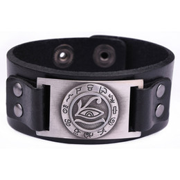 Vikings bracelet online shopping - Religion Viking Bracelet Ancient Egyptian Myths Isis Leather Bracelet Lucky Eye Mantra Snap Button Jewelry