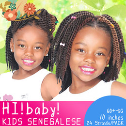 Hair Braids For Kids NZ - 24 Roots Crochet Braids Senegalese Twist 10 inch Crochet Twist Braid Hair For kids Crochet Braiding Hair 8 Colors 1 Pack