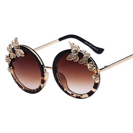 ca86a59620 Sunglasses New Fashion Women Sun glasses Round Glasses Anti-Reflective  Mirror Butterfly Decoration Eyewears Oculos UV400