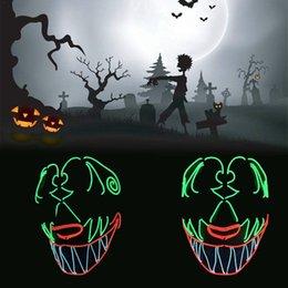 $enCountryForm.capitalKeyWord Australia - wholesale Halloween Hip Hop Horror Dance Dress Up Cold light Glowing Mask Full face Human Skeleton Head Led Light Mask