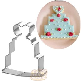 sandwich cutters Australia - 10pcs Love cake cookie cutter wedding Metal biscuit mold Fruit die cut Sushi stamp sandwich baking pastry tool fondant cupcake topper
