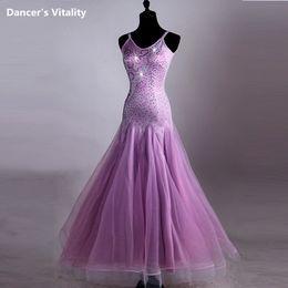$enCountryForm.capitalKeyWord NZ - Wholesale Retail Lady Modern Dance Dress Pink Diamond Strapless Costume Dancewear for Women National Standard Waltz Jazz Dancing