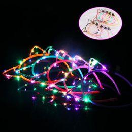 $enCountryForm.capitalKeyWord Australia - Bunny Ears LED Flashing Glowing Headband Cat Animal Ears Lighted Hairband Women Bar KTV Nightclub Glow Party Supplies