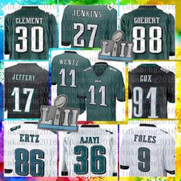 14a88974e Top Sale 11 Carson Wentz Philadelphia Eagles Jersey 17 Alshon Jeffery 91  Fletcher Cox 30 Corey Clement 36 Jay Ajayi 88 Dallas Goedert Jersey wentz  jerseys ...