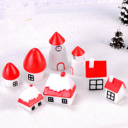 small house decoration Australia - Christmas House Cartoon Castle Snow Cabin New Year Ins Style Garden Decoration Crafts Ornaments Miniature for Moss Terrarium Small Gifts