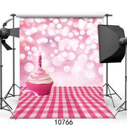 Background Prints Australia - Cake Candles Happy Birthday Vinyl Backdrops Customized computer Printed Photography Background for photo studio Photo Background