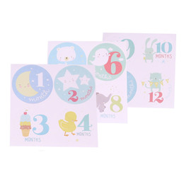 $enCountryForm.capitalKeyWord UK - 2018 3Pcs Set Baby Monthly Photograph Stickers Month 1-12 Milestone Stickers Great Shower Gift or DIY Scrapbook Photo Toys