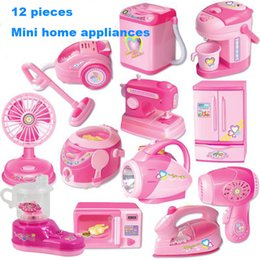 $enCountryForm.capitalKeyWord Australia - 12PCS set Small Home Appliances Suit Simulation Pretend Play House Toy Kitchen Tools Collection Children Multi-function Mini Toy